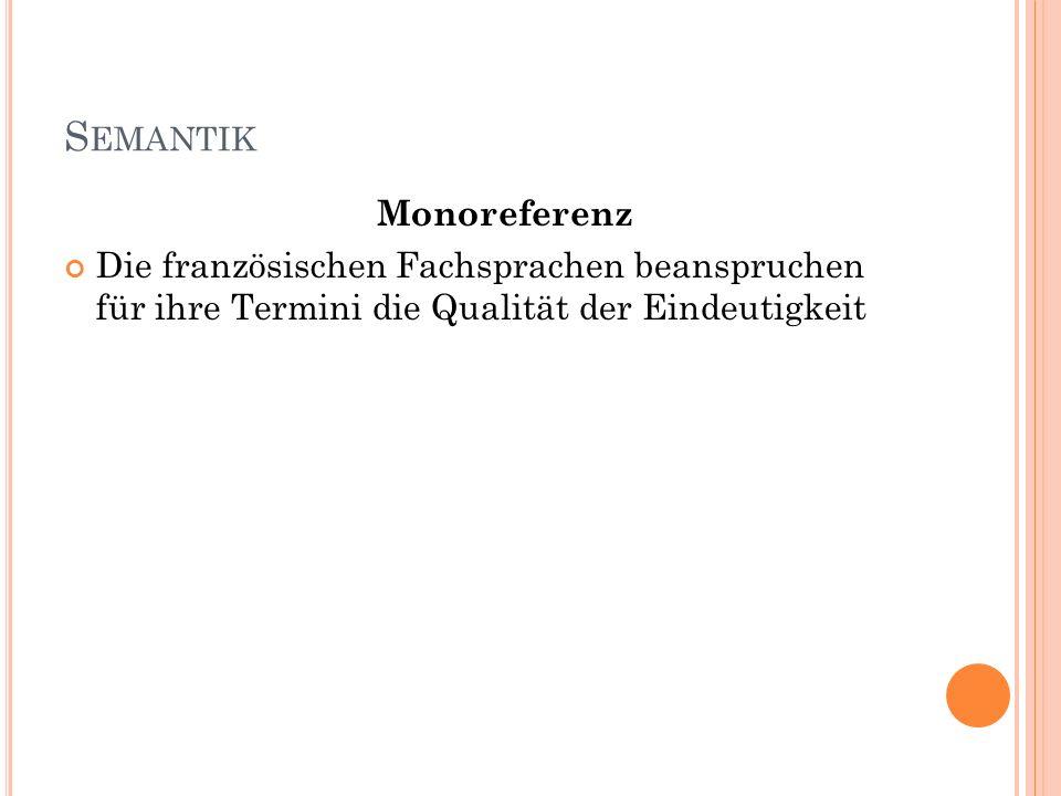Semantik Monoreferenz