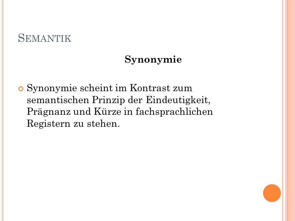Semantik Synonymie.