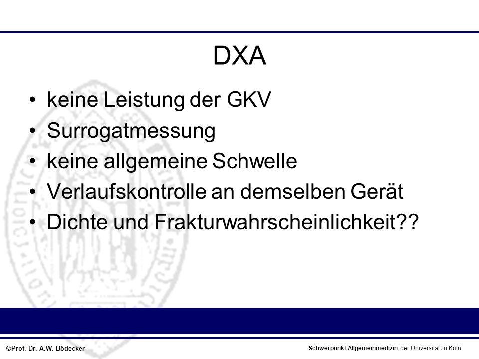 DXA keine Leistung der GKV Surrogatmessung keine allgemeine Schwelle
