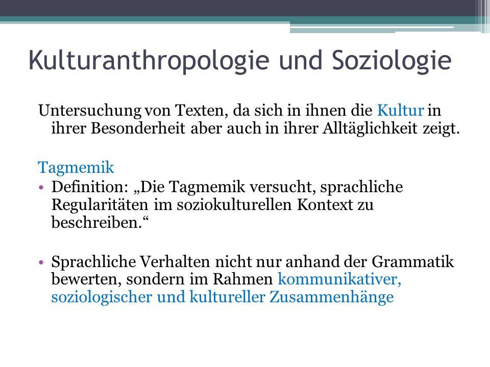 Kulturanthropologie und Soziologie