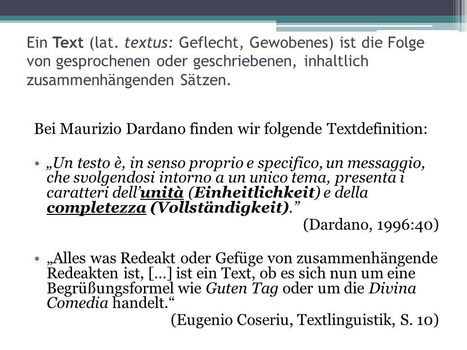 Ein Text (lat. textus: Geflecht, Gewobenes) ist die Folge von gesprochenen oder geschriebenen, inhaltlich zusammenhängenden Sätzen.