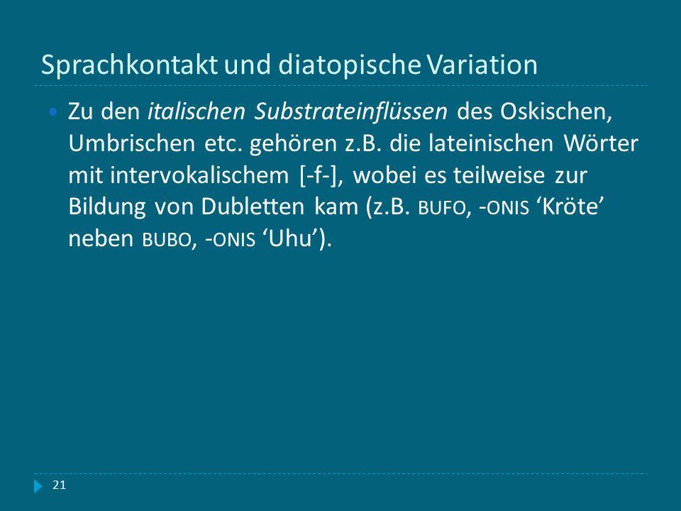 Sprachkontakt und diatopische Variation
