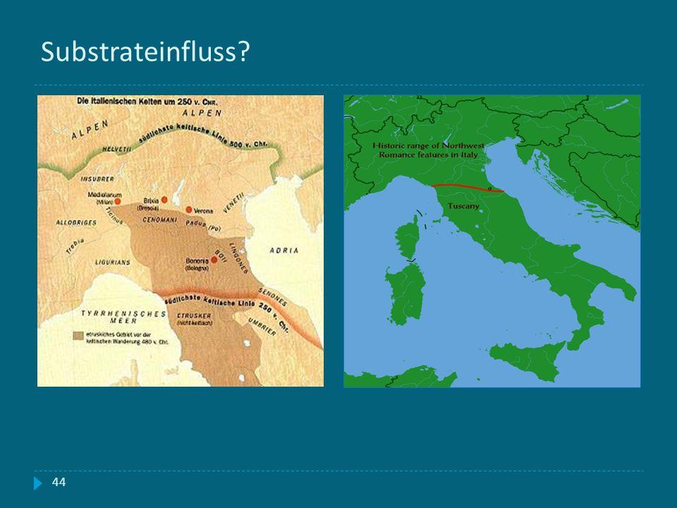 Substrateinfluss Keltische Siedlungsgebiete in Oberitalien