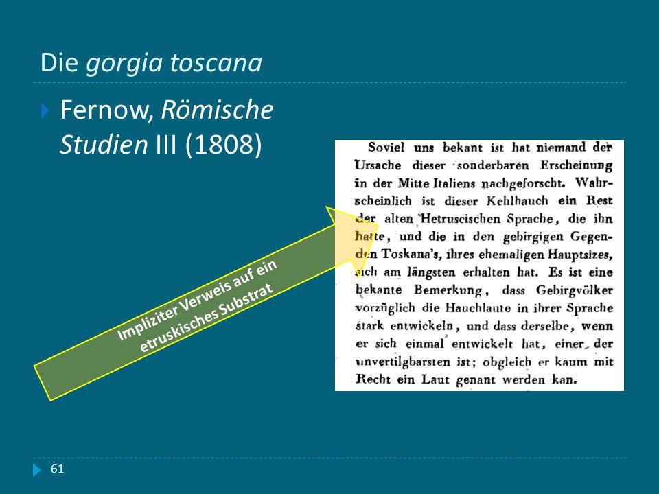 Impliziter Verweis auf ein etruskisches Substrat