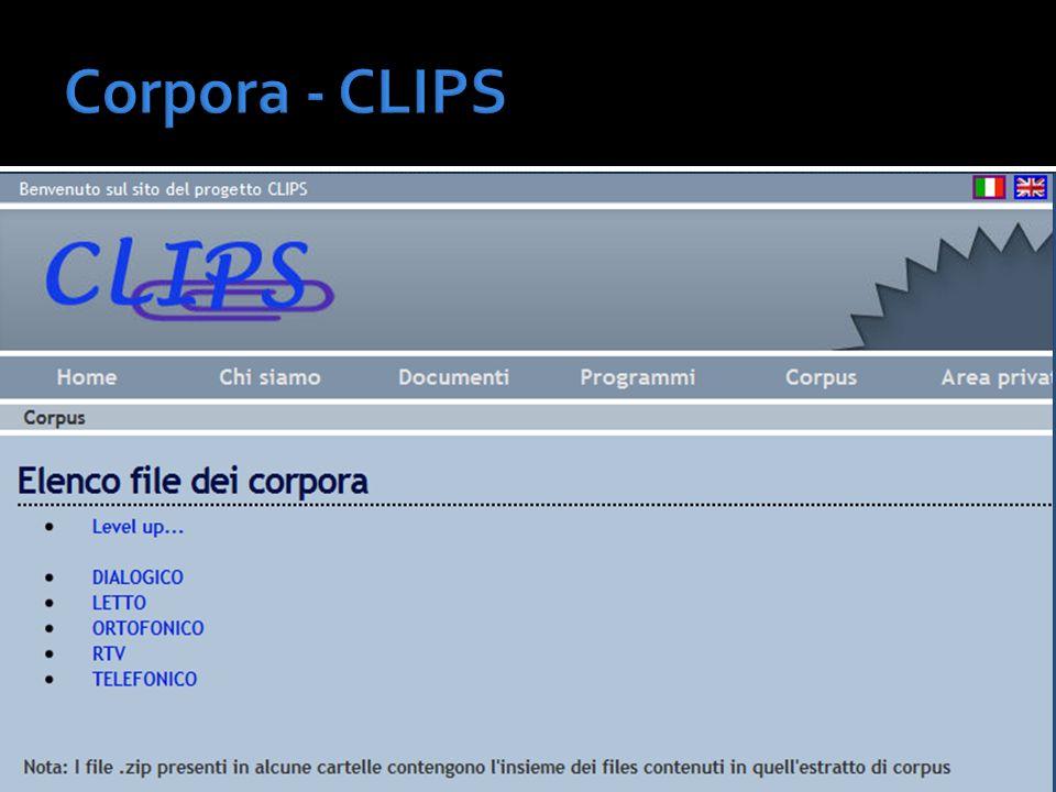 Corpora - CLIPS
