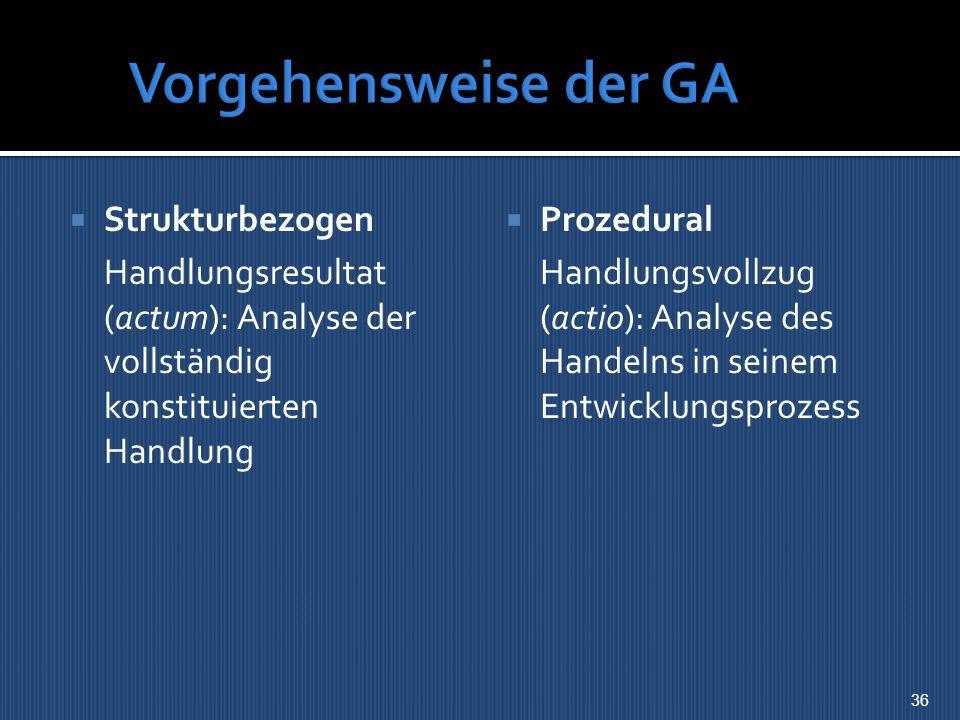 Vorgehensweise der GA Strukturbezogen