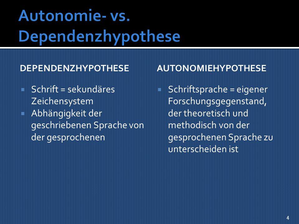 Autonomie- vs. Dependenzhypothese