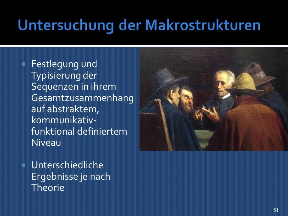 Untersuchung der Makrostrukturen