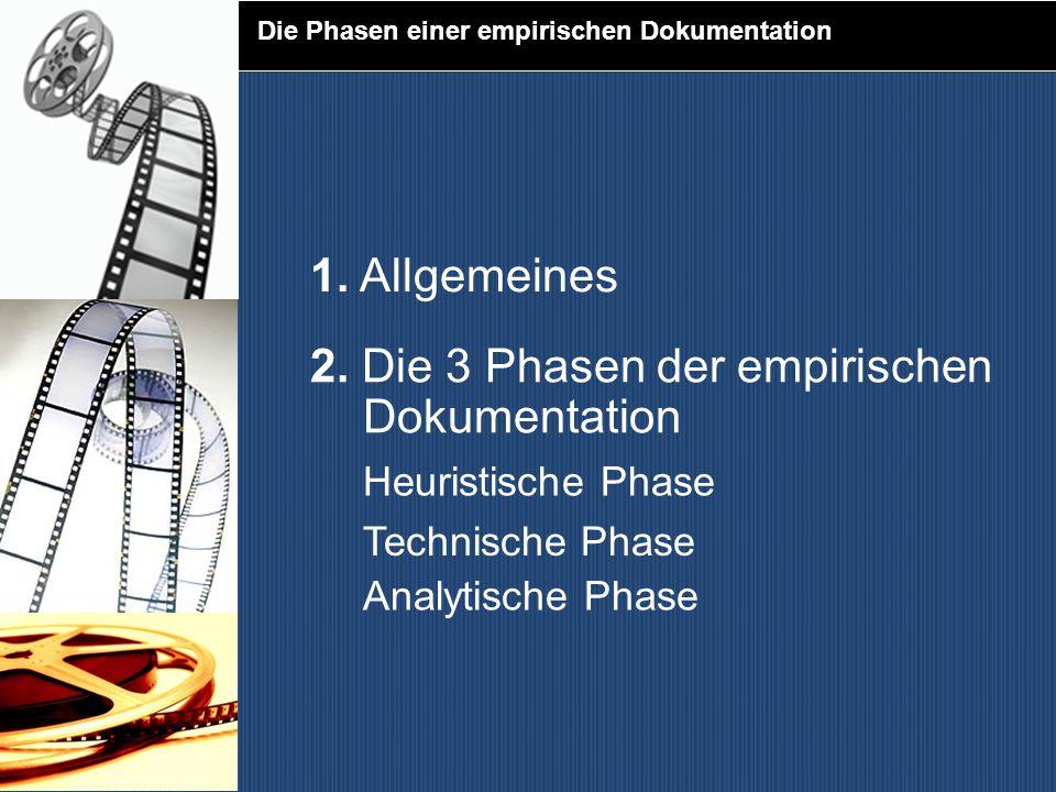 2. Die 3 Phasen der empirischen Dokumentation