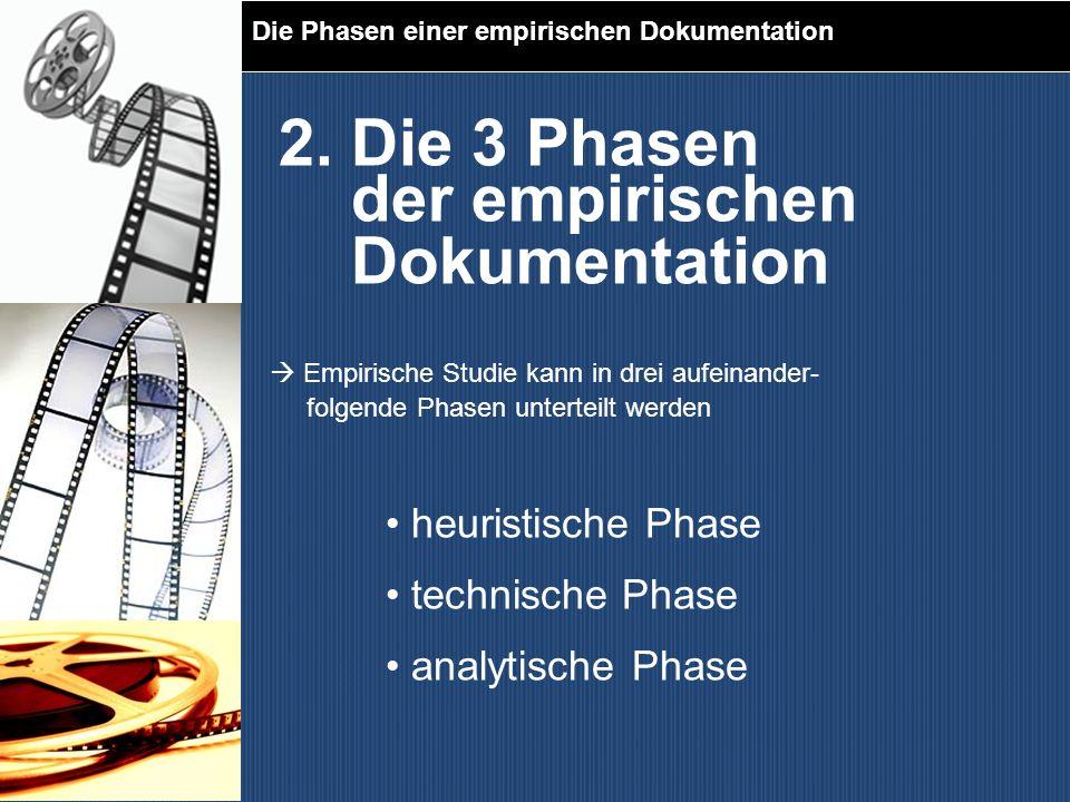 2. Die 3 Phasen der empirischen Dokumentation heuristische Phase