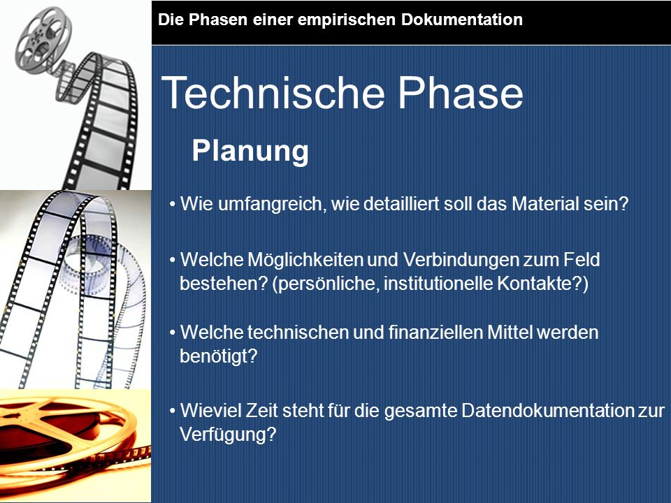 Technische Phase Planung