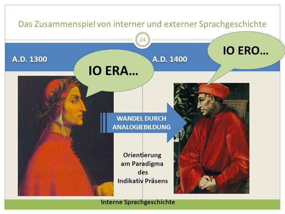 Das Zusammenspiel von interner und externer Sprachgeschichte