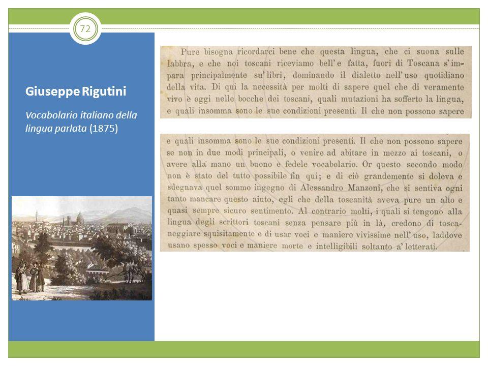 Giuseppe Rigutini Vocabolario italiano della lingua parlata (1875)