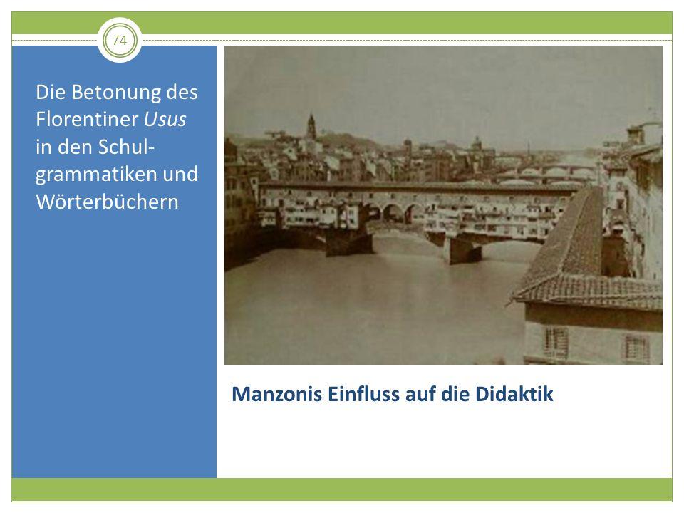 Manzonis Einfluss auf die Didaktik