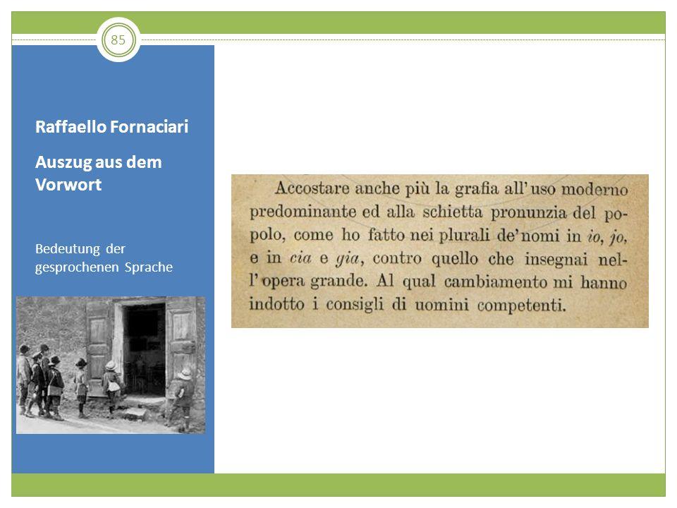 Raffaello Fornaciari Auszug aus dem Vorwort