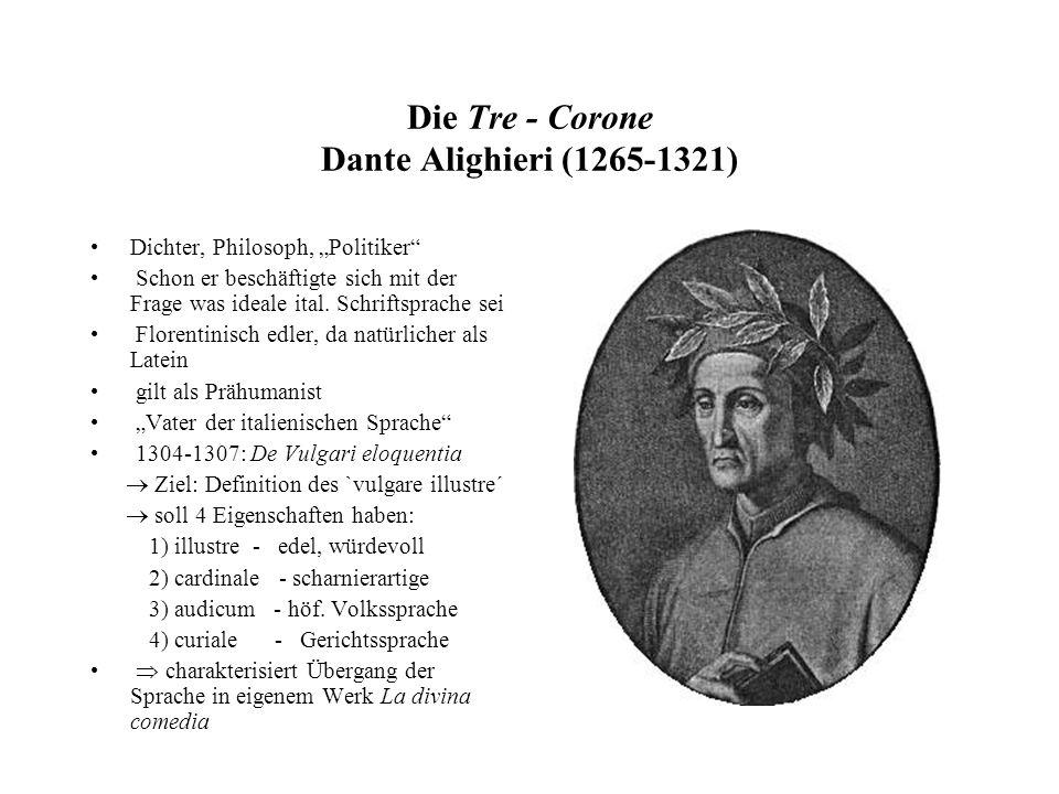 Die Tre - Corone Dante Alighieri (1265-1321)