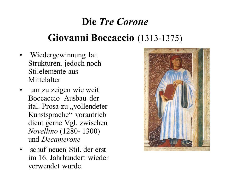 Die Tre Corone Giovanni Boccaccio (1313-1375)
