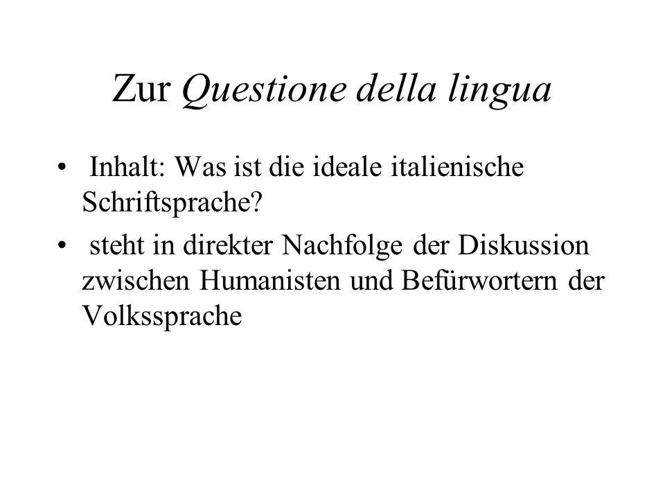 Zur Questione della lingua