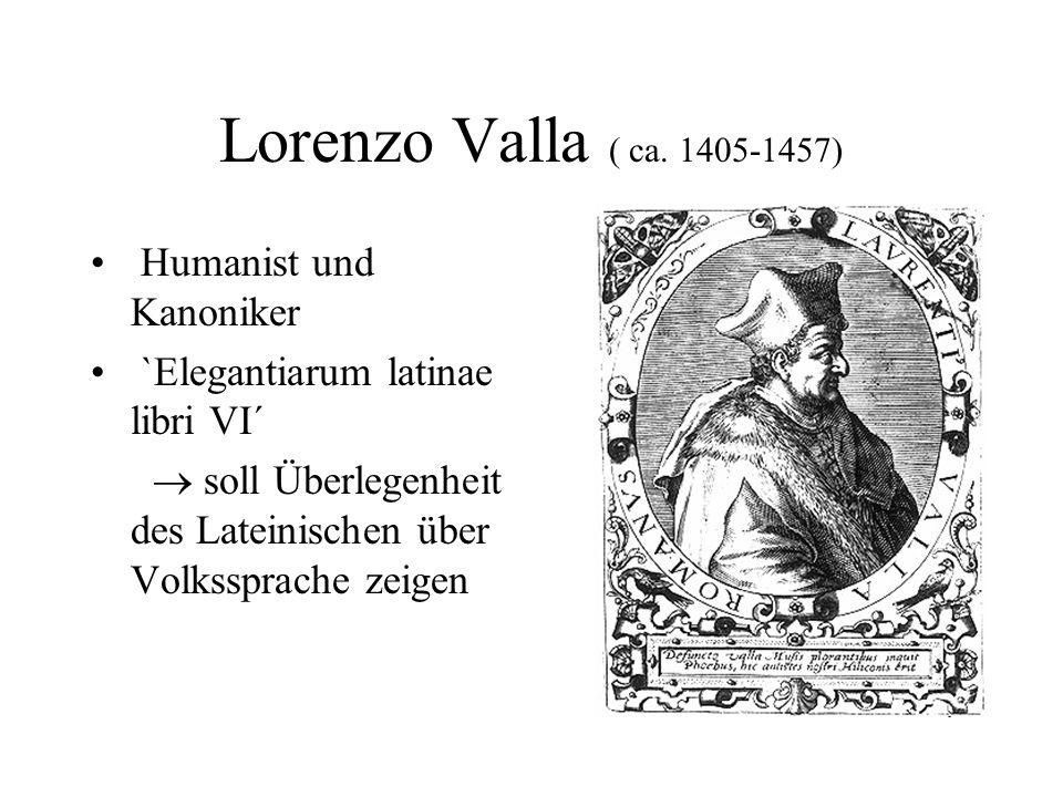 Lorenzo Valla ( ca. 1405-1457) Humanist und Kanoniker