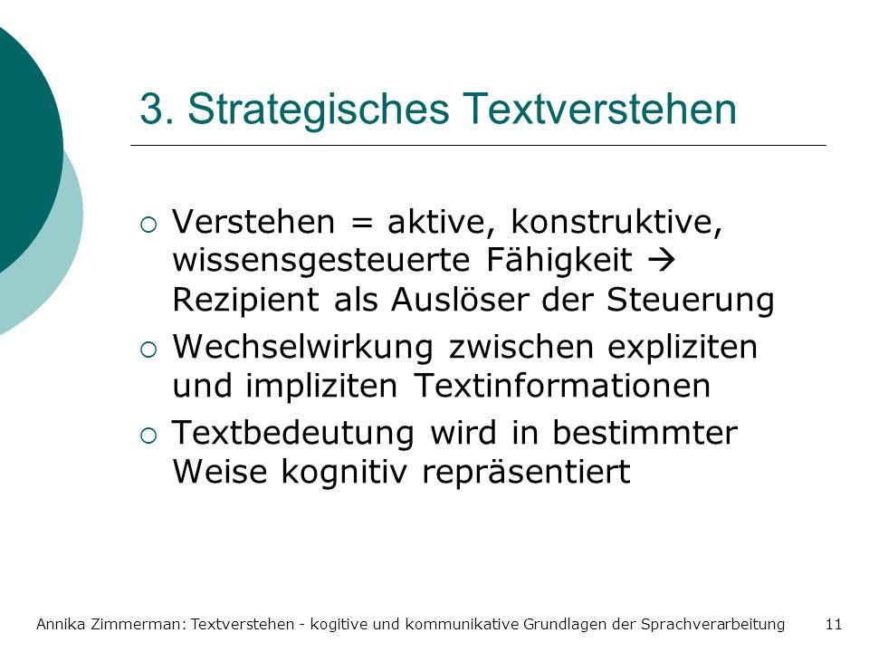 3. Strategisches Textverstehen