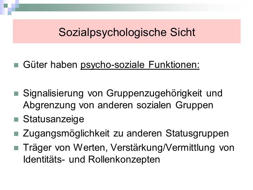 Sozialpsychologische Sicht