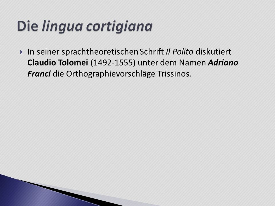 Die lingua cortigiana
