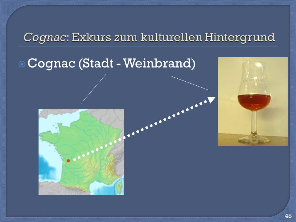 Cognac: Exkurs zum kulturellen Hintergrund
