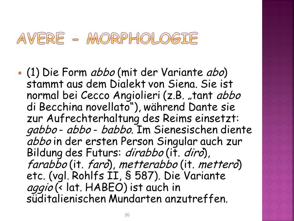 AVERE - Morphologie