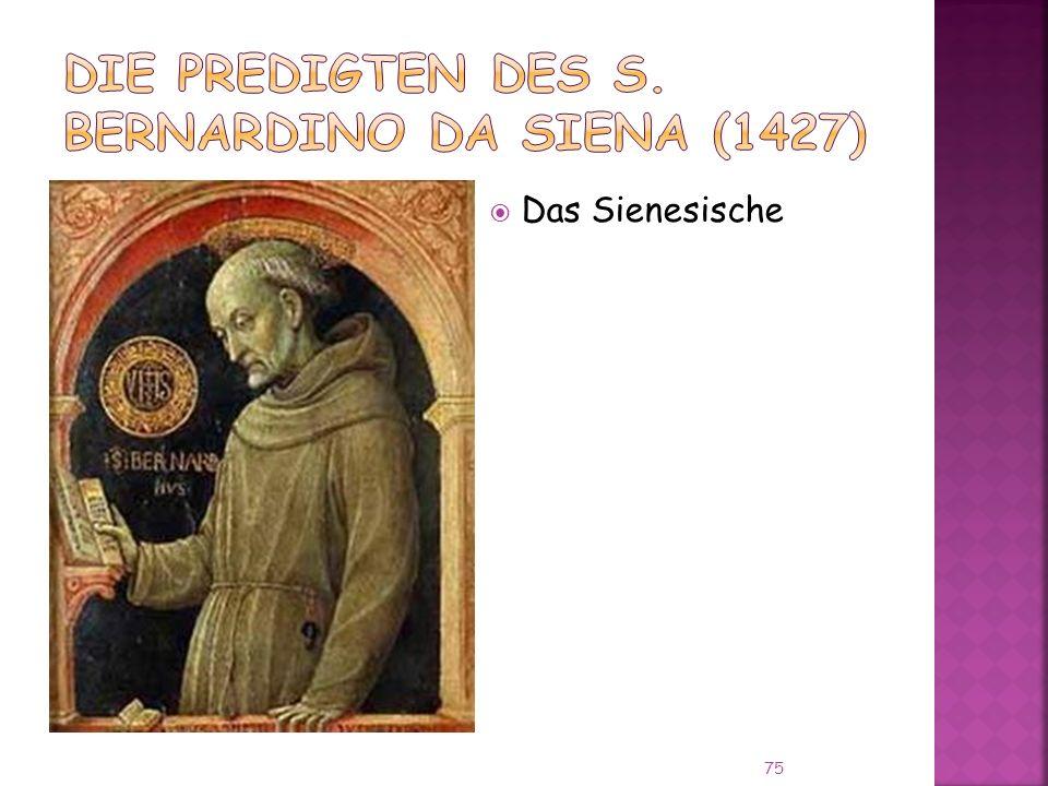 Die Predigten des S. Bernardino da Siena (1427)