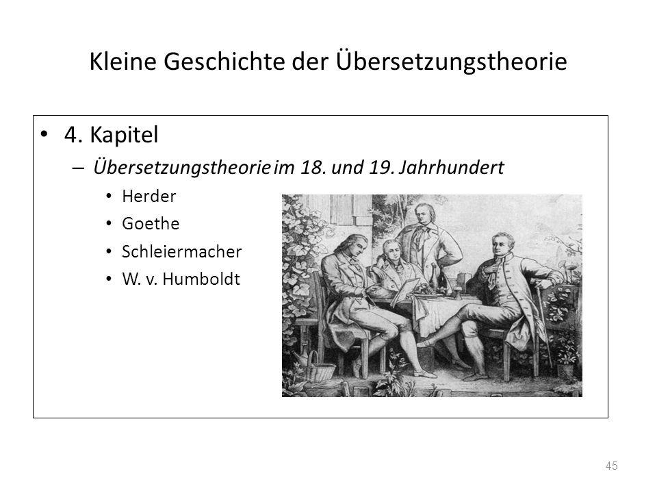 Kleine Geschichte der Übersetzungstheorie