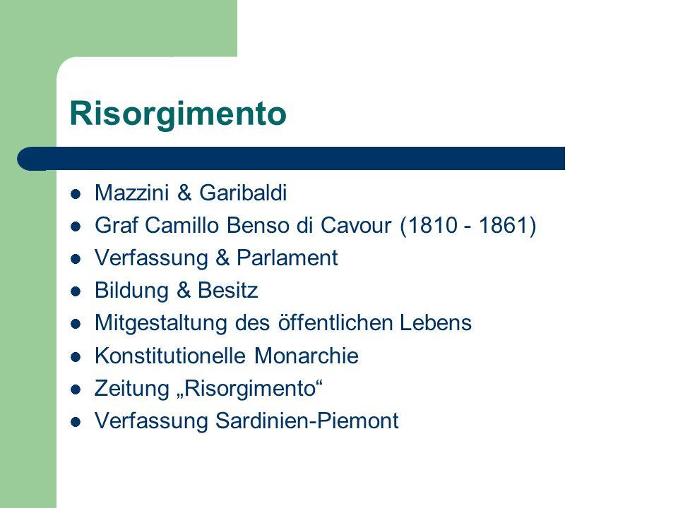 Risorgimento Mazzini & Garibaldi