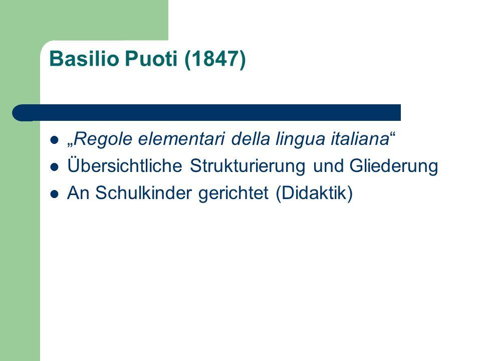 "Basilio Puoti (1847) ""Regole elementari della lingua italiana"