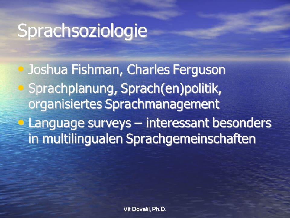 Sprachsoziologie Joshua Fishman, Charles Ferguson