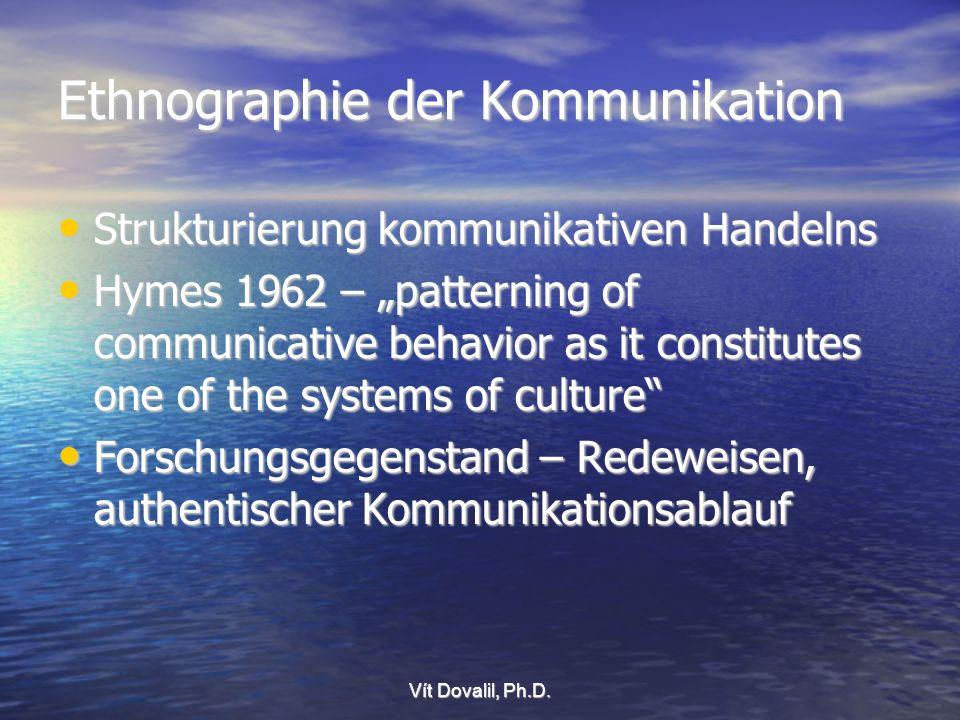 Ethnographie der Kommunikation