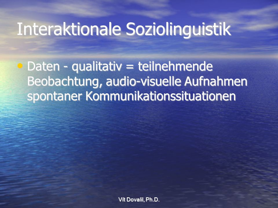 Interaktionale Soziolinguistik