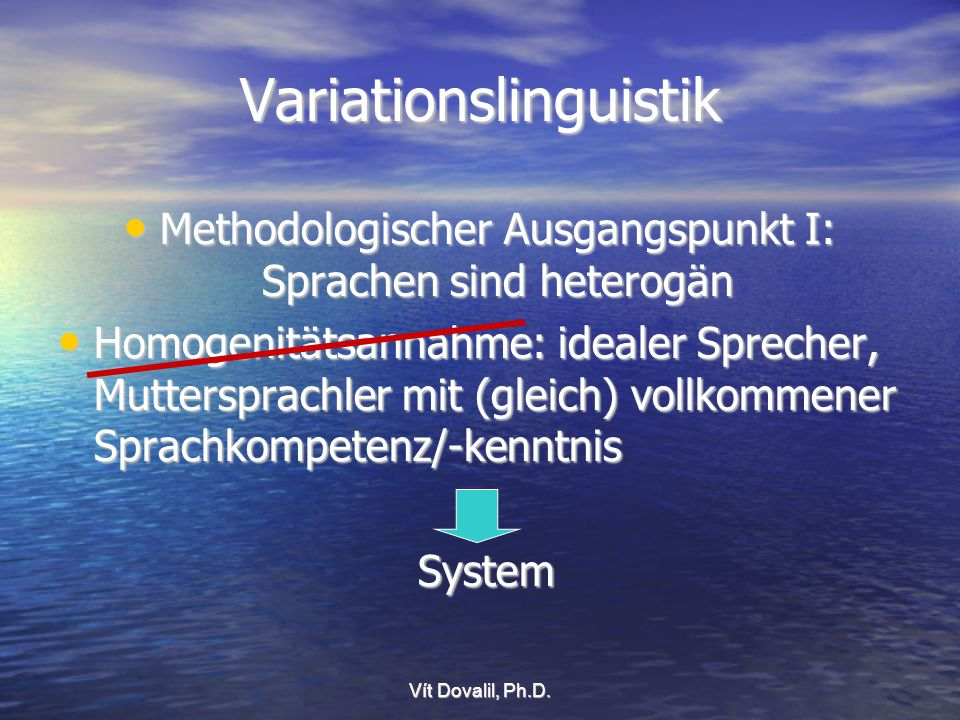 Variationslinguistik