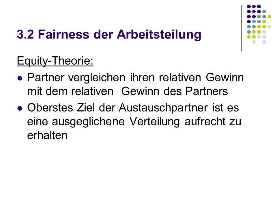 3.2 Fairness der Arbeitsteilung
