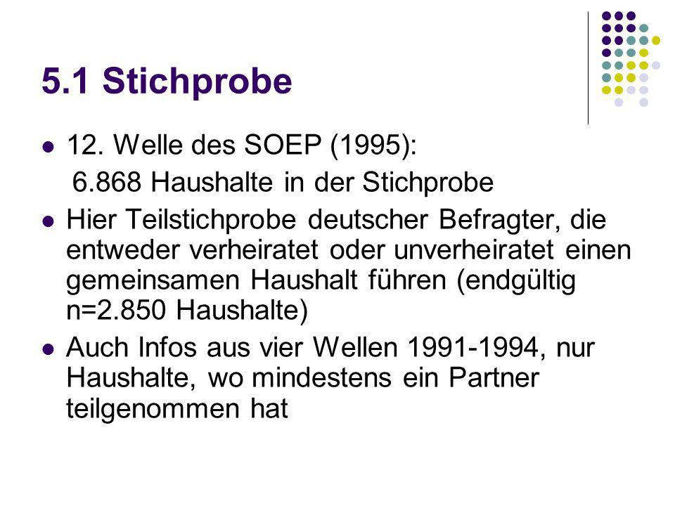 5.1 Stichprobe 12. Welle des SOEP (1995):