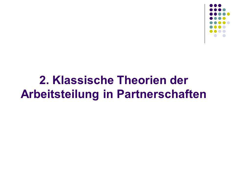 2. Klassische Theorien der Arbeitsteilung in Partnerschaften