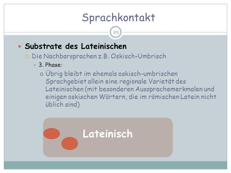 Sprachkontakt Lateinisch Substrate des Lateinischen