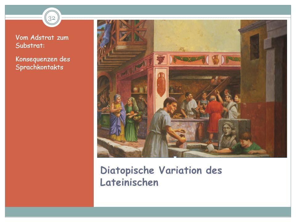 Diatopische Variation des Lateinischen
