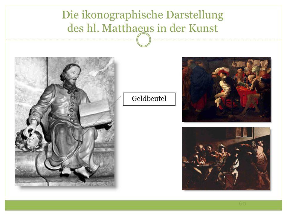 Die ikonographische Darstellung des hl. Matthaeus in der Kunst