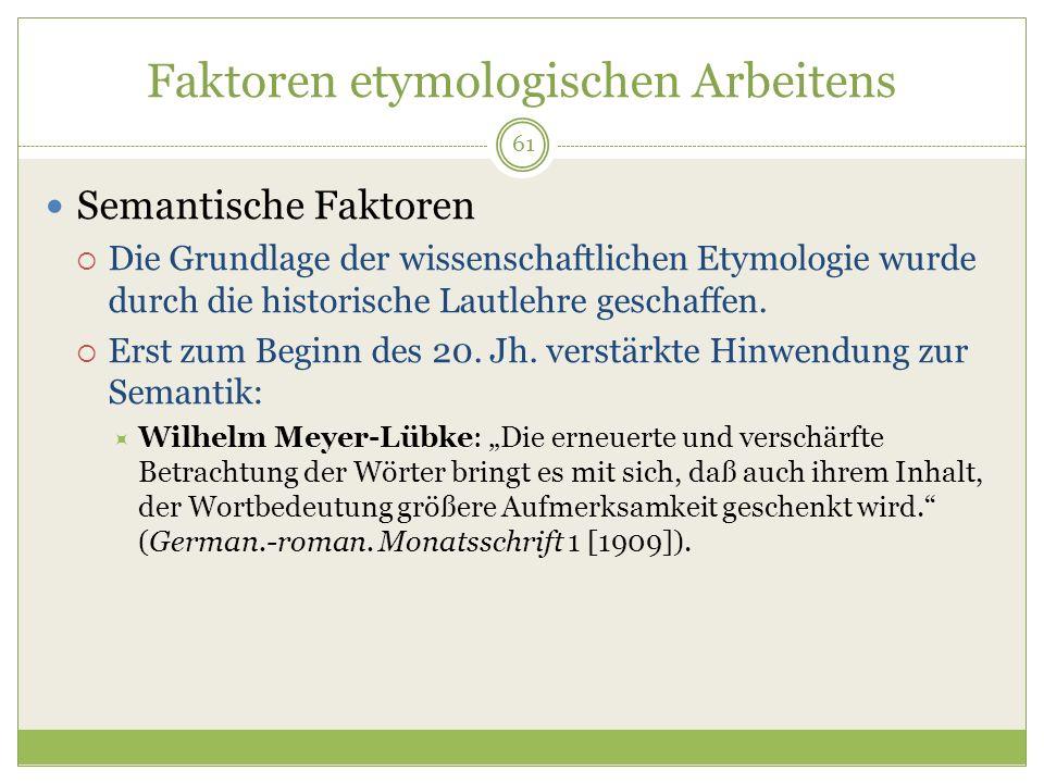 Faktoren etymologischen Arbeitens