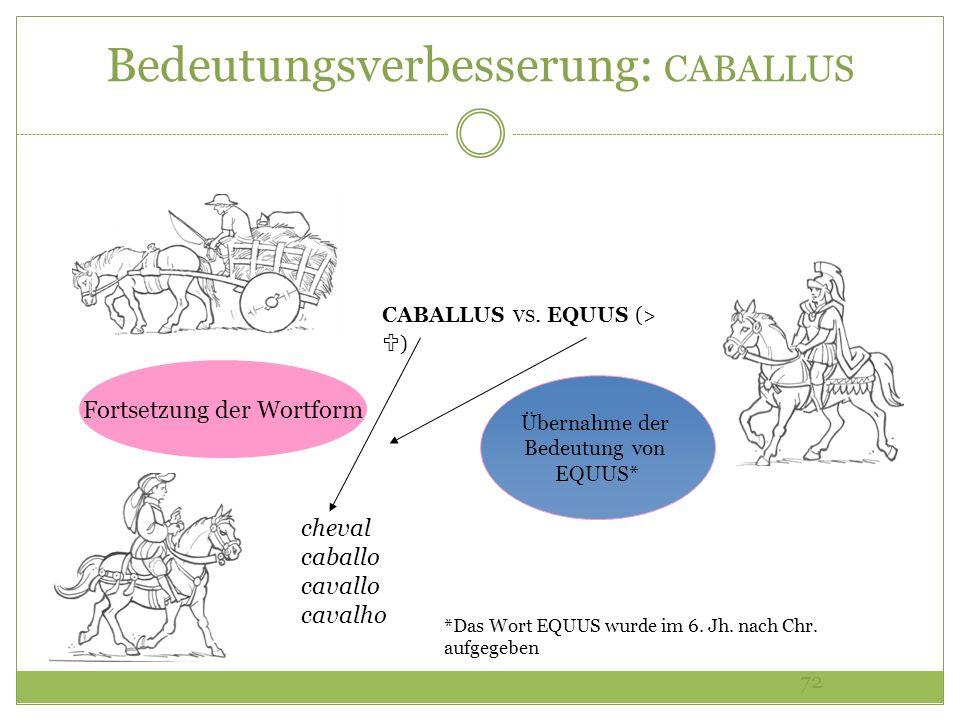 Bedeutungsverbesserung: CABALLUS