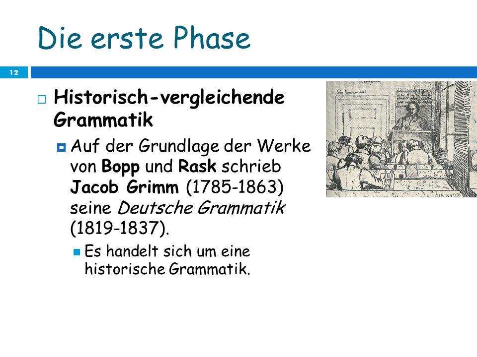 Die erste Phase Historisch-vergleichende Grammatik