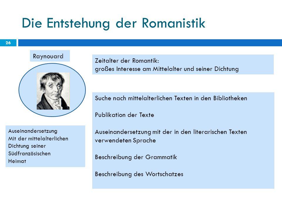 Die Entstehung der Romanistik