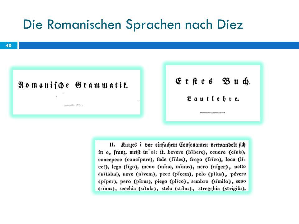 Die Romanischen Sprachen nach Diez