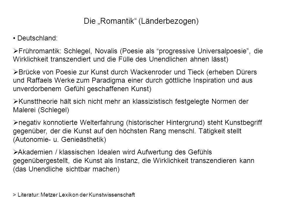 "Die ""Romantik (Länderbezogen)"