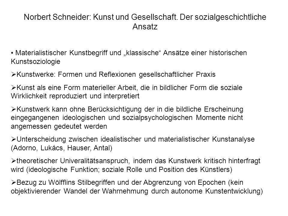 Norbert Schneider: Kunst und Gesellschaft