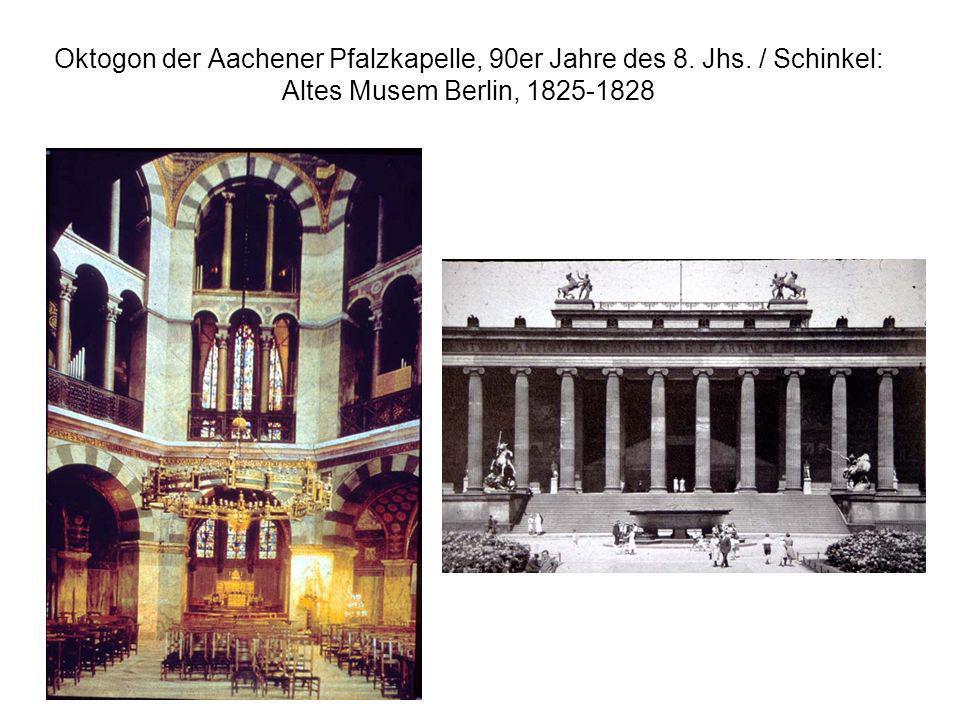 Oktogon der Aachener Pfalzkapelle, 90er Jahre des 8. Jhs
